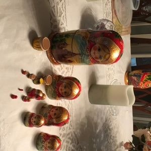Nesting dolls made in Russia signed